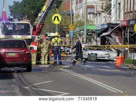 Suspicious Shop Blast Explosion In Rozelle Sydney