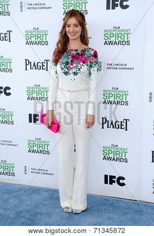 LOS ANGELES - MAR 01:  Ahna O'Reilly arrives to the Film Independent Spirit Awards 2014  on March 01, 2014 in Santa Monica, CA.