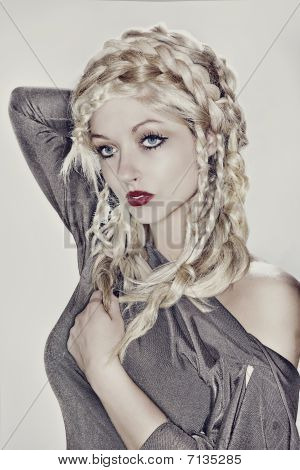 Glamour Hair Model