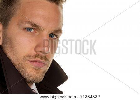 a man's face as a portrait