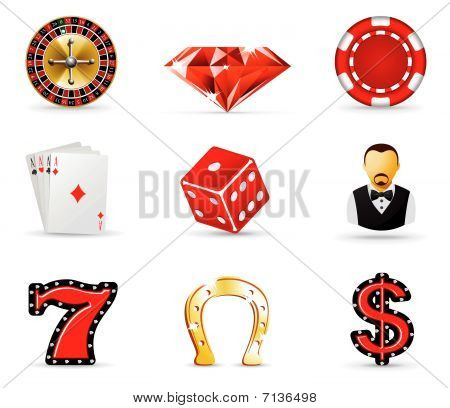 Casino and gambling icons, part 1