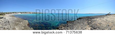 Punta Prima Beach In Menorca, Spain