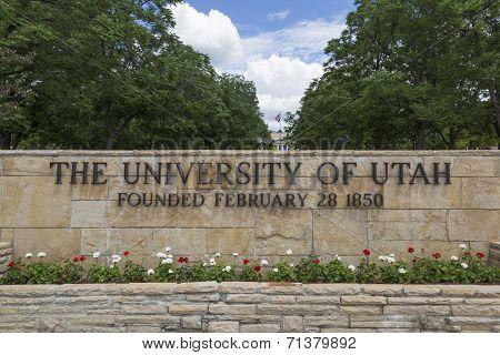 University of Utah Main Entrance