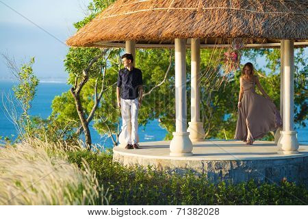 Lovely Couple In Gazebo