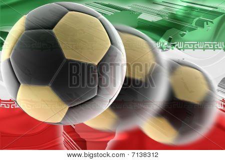 Flag Of Iran Wavy Soccer