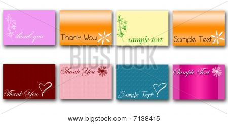 set of 8 vector cards