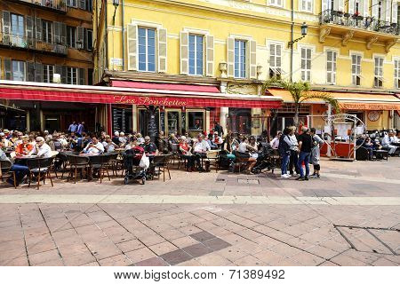 Les Ponchettes Restaurant At Cours Saleya, Nice