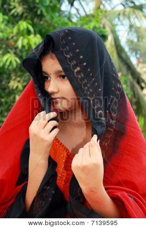 schüchtern Rajasthani Mädchen