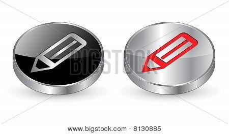 Pen icon, button.