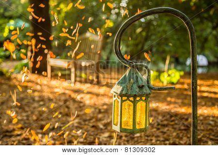 Lamp in the garden