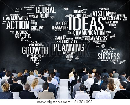 Global Business People Conference Seminar Ideas Concept