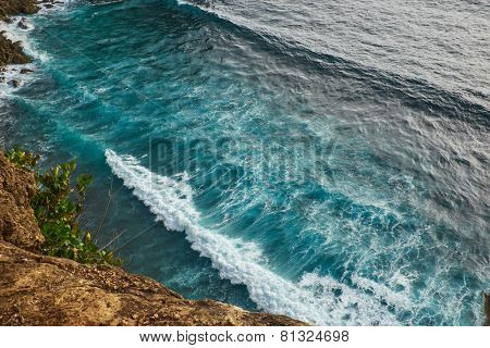 view of a monkey cliff in Bali Indonesia