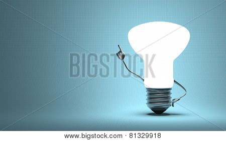 ??light Bulb Character In Aha Moment