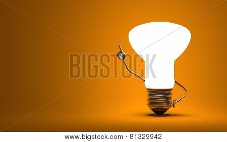 ???light Bulb Character In Aha Moment