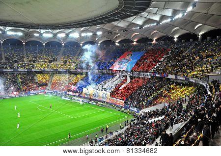 Stadium Full With Football Fans