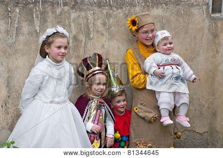 Jerusalem, Israel - March 15, 2006: Purim Carnival In The Famous Ultra-orthodox Quarter Of Jerusalem