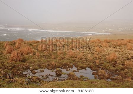 landscape near Cliffs of Moher