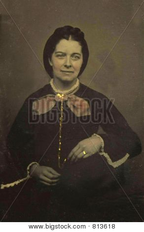 Vintage Photo from 1890 of a Woman