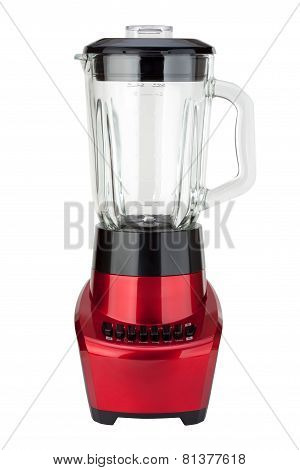 Red Electric Blender (clipping Path)