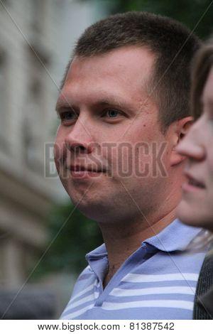 The Politician Nikolay Lyaskin On An Oppositional Action