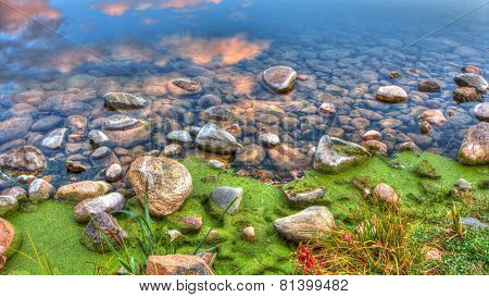 Hdr Of River Edge Rocks