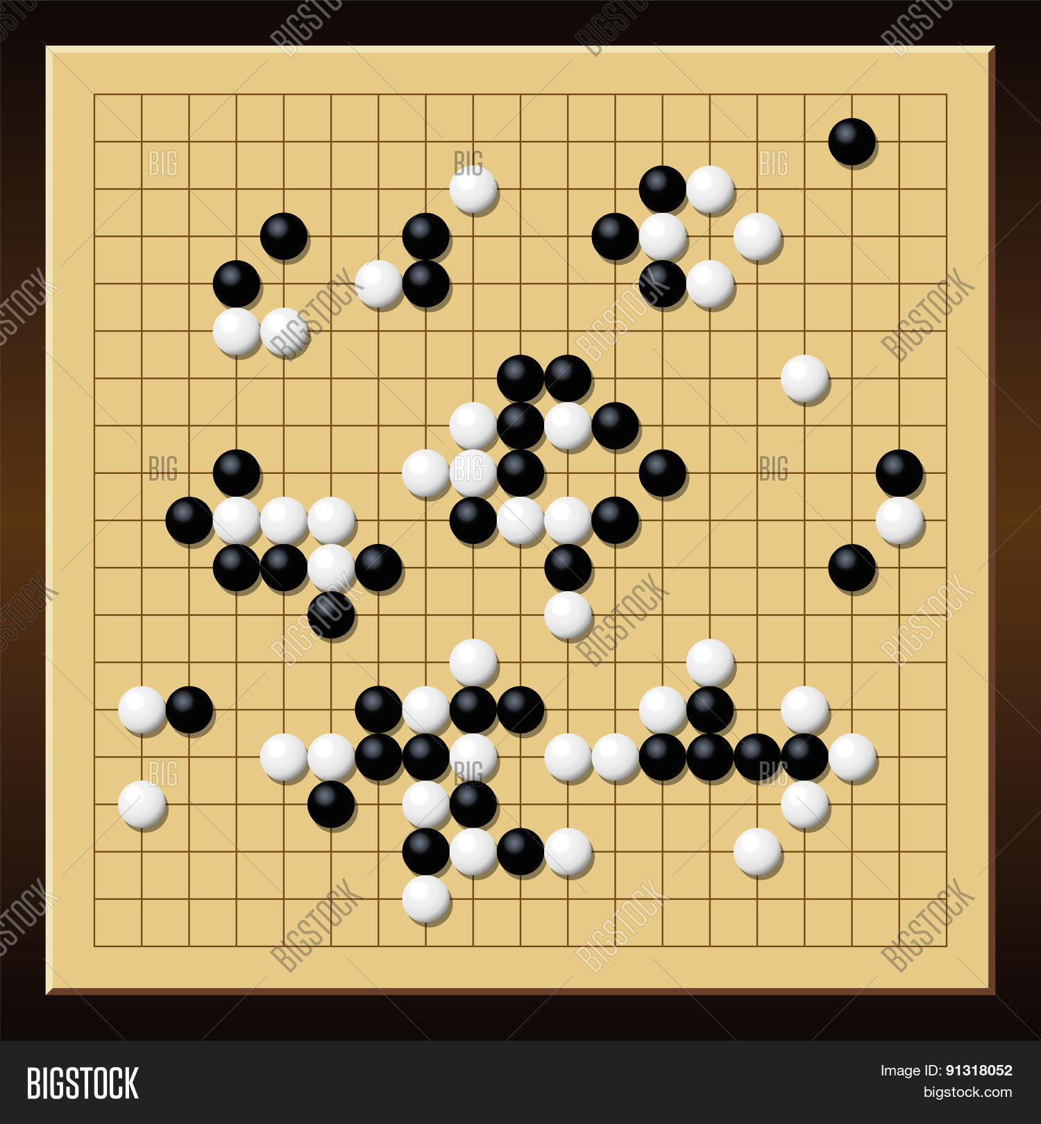 Go Game Gobang Gomoku Chinese Board