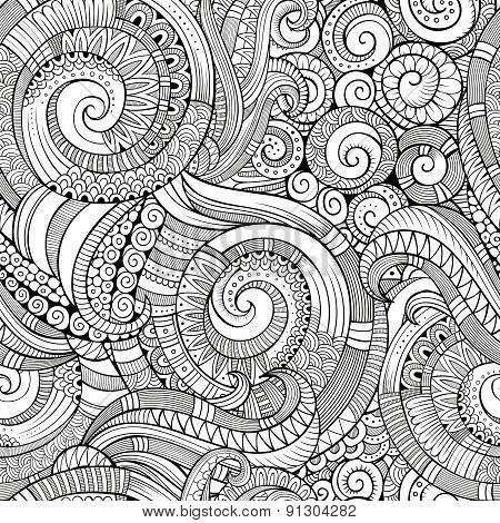 Vintage decorative ornamental seamless pattern