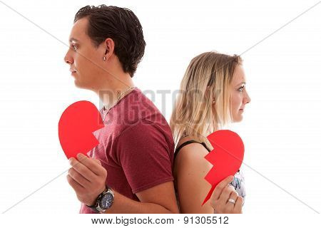 Young Couple Is Breaking Up