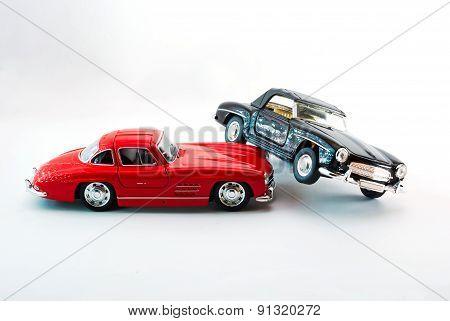 Sport Car Model In Studio Light