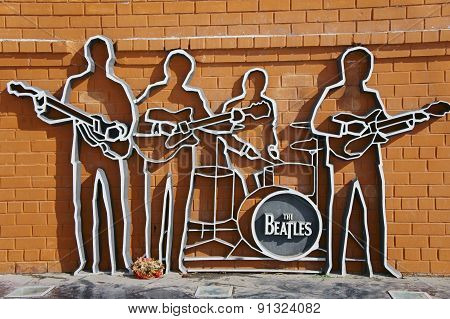 EKATERINBURG, RUSSIA - March 26, 2012: Photo of Monument to The Beatles