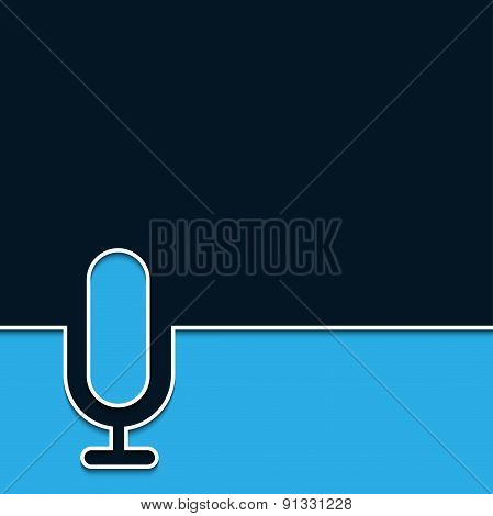 Vector modern microphone online background.
