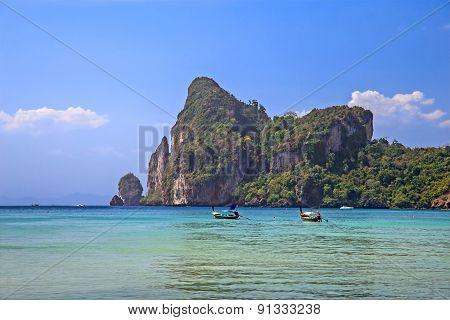 Blue lagoon in Thailand