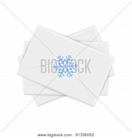 Christmas Envelopes With Snowflake