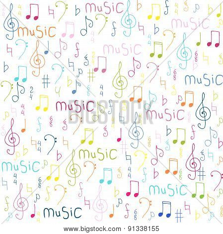 Notes Seamless Background