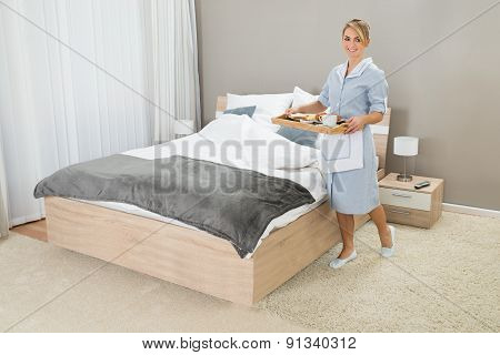 Maid With Breakfast Tray