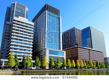 Tokyo financial district
