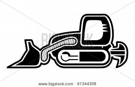 Tracked Loader Bulldozer Icon