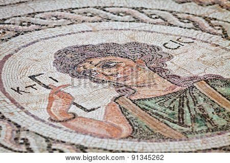 Ancient Religious Mosaic In Kourion, Cyprus