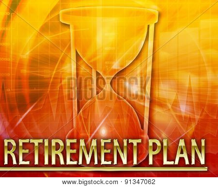 Abstract background digital collage concept illustration pension retirement plan