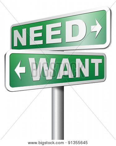 want need back to basic needs or being a big consumer without satisfaction only must have