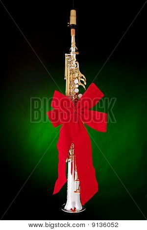 Soprano Saxophone Present Isolated