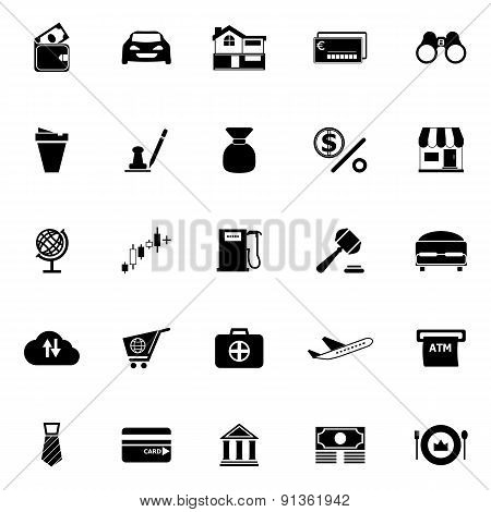 E Wallet Icons On White Background