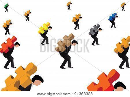 mannequins wear a puzzle