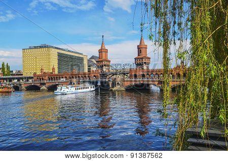Oberbaumbruecke (bridge) In Berlin, Germany