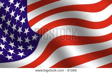 Detalle de la bandera americana