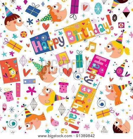 Happy Birthday kids pattern