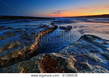 Calm Rocks Seascape