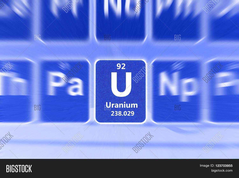 Symbol radioactive uranium chemical image photo bigstock symbol of radioactive uranium chemical element on the periodic table of elements motion effect buycottarizona Images