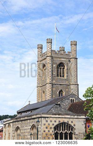 HENLEY-ON-THAMES, UK - JULY 10, 2015 - St Marys Parish Church Henley-on-Thames Oxfordshire England UK Western Europe, July 10, 2015.