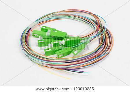 Green Fiber Optic Sc Connectors